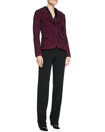 St. John Collection 2-Button Blazer with Pockets, Long-Sleeve