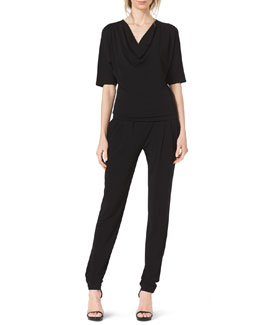 Michael Kors  Jersey Cowl-Neck Top & Pleat-Front Stretch-Jersey Pants