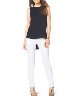 MICHAEL Michael Kors  High-Low Silk Top & Slim Jeans