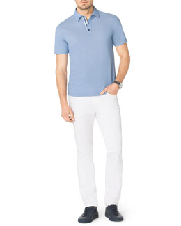 Michael Kors  Birdseye-Trim Polo