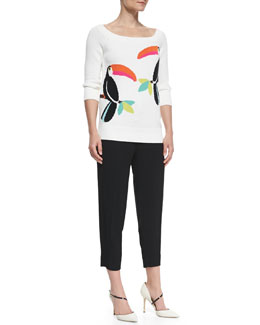kate spade new york toucan slouchy sweater & hutton lounge drawstring pants