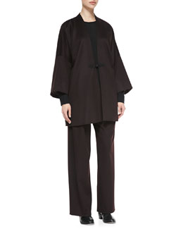 eskandar Japanese Warrior Jacket, Round-Neck Cashmere Top & Trousers