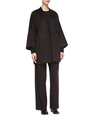eskandar Japanese Warrior Jacket, Round-Neck Cashmere Top & Trousers