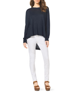 MICHAEL Michael Kors  High-Low Sweater & Slim Jeans