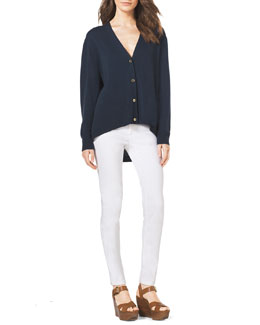 MICHAEL Michael Kors  High-Low Cashmere Cardigan & Slim Jeans