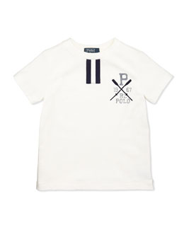 Ralph Lauren Childrenswear Short-Sleeve Polo Tee, White