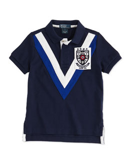 Ralph Lauren Childrenswear Boys' Chevron Mesh Polo