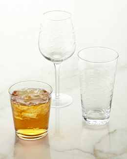 Etched Fish Glassware