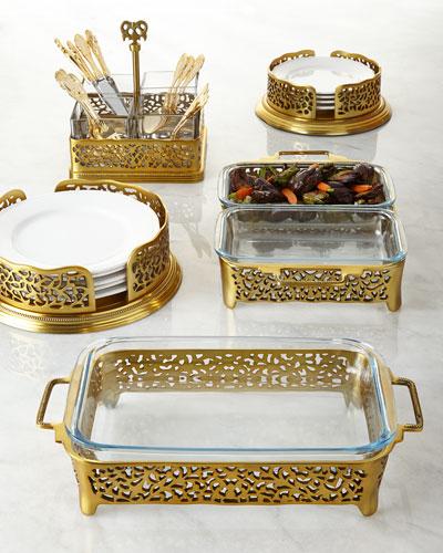 Gold-Tone Pierced Serveware