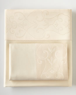 Eastern Accents Ecru Ornato Sheets