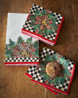 MacKenzie-Childs Evergreen Holiday Paper Napkins