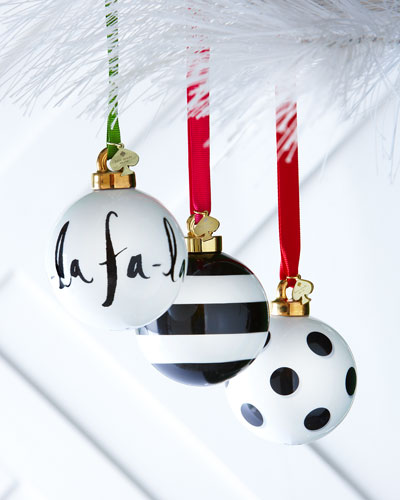Black & White Christmas Ornaments