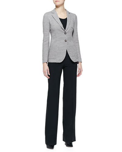 Armani Collezioni Wool Two-Button Blazer & Double-Faced Jersey Leggings