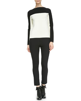 Rag & Bone Roxy Two-Tone Knit Top & Simone Back-Zip Leggings
