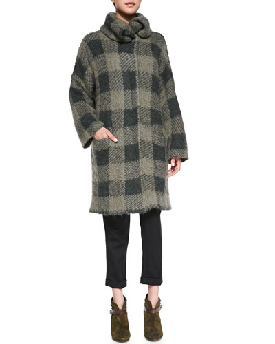 Rag & Bone Cammie Sweater Coat & Em Wool Cropped Pants