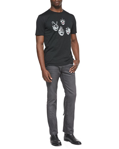 KISS Graphic Tee & Bowery Coated Slim-Fit Jeans