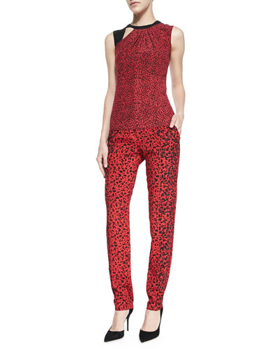 Nanette Lepore Time Out Printed Sleeveless Top & Whisper Mixed-Print Flowy Pants
