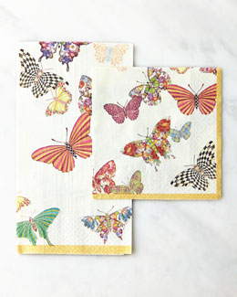 MacKenzie-Childs Butterfly Garden Cocktail Napkins & Guest Towels
