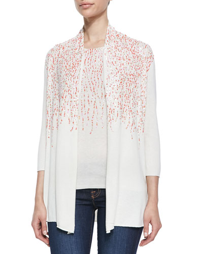 in CASHMERE Silk/Cashmere Multi-Sequined Cardigan & Shell