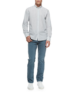 Rag & Bone Striped Button-Down Shirt & RB15X Brushed Twill Jeans