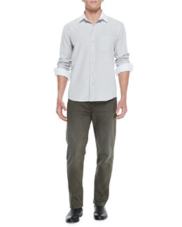 Rag & Bone White-Collar Button-Down Shirt & 5-Pocket Twill Pants