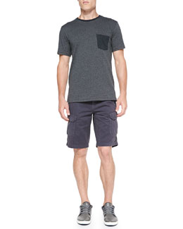Rag & Bone Contrast Pocket Tee & Cotton Cargo Shorts