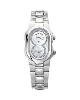 Philip Stein Small Signature Mother-of-Pearl Diamond-Dial Watch Head & 18mm Stainless Steel Bracelet