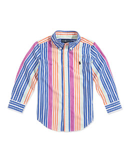 Ralph Lauren Childrenswear Boys' Blake Multistriped Poplin Shirt