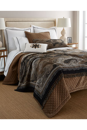 Austin Horn Collection Elite Queen Quilted Velvet Coverlet Standard Elite Quilted Velvet Sham