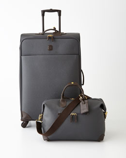 Bric's Charcoal Lattice Luggage