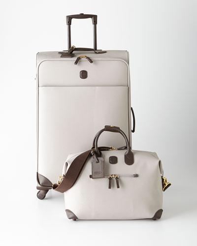 Bric's Light Gray Lattice Luggage