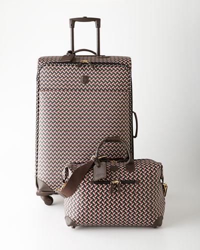 Bric's Black/Gray/Red Multicolored Lattice Luggage