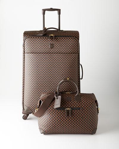Bric's Black/Brown/Cognac Multicolored Lattice Luggage
