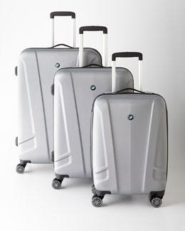 BMW Silver Hardside Luggage