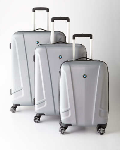 BMW Silver Hardside Luggage