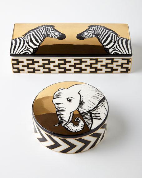 Jonathan Adler Animalia Zebra Trinket Box