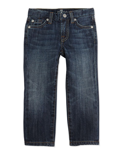 7 For All Mankind Kids' Standard NY Jeans, Dark Blue