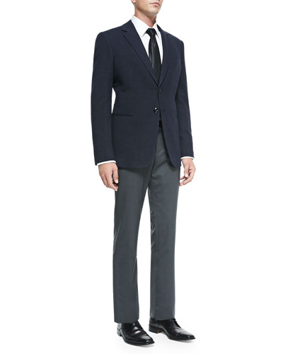 Hosack Two-Button Jacket & Wool/Cashmere Solid Trousers