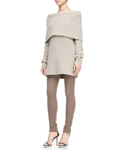 Michael Kors  Off-The-Shoulder Cowl-Neck Sweater & Stretch Techno Twill Leggings