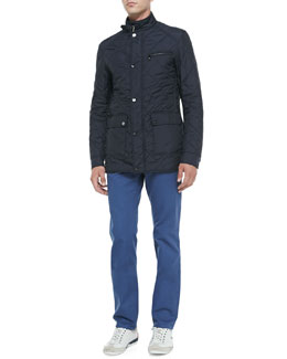 Salvatore Ferragamo Quilted Tech Jacket & 5-Pocket Twill Pants