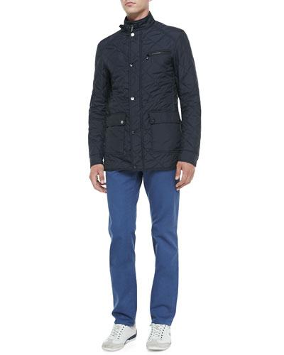 Salvatore Ferragamo Quilted Tech Jacket & 5-Pocket Twill Pants