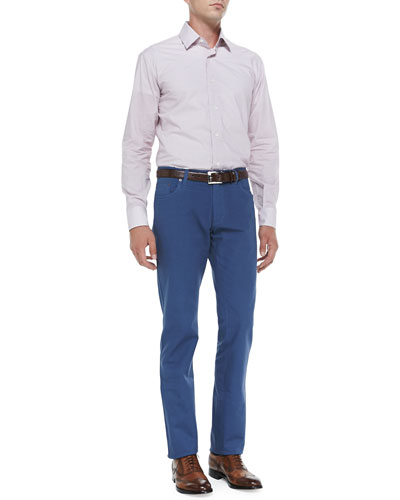 Salvatore Ferragamo Micro-Gancini-Print Woven Shirt & 5-Pocket Twill Pants