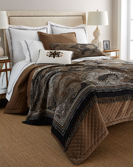 Austin Horn Collection Elite Quilted Velvet Bedding & Ilsa Accessories