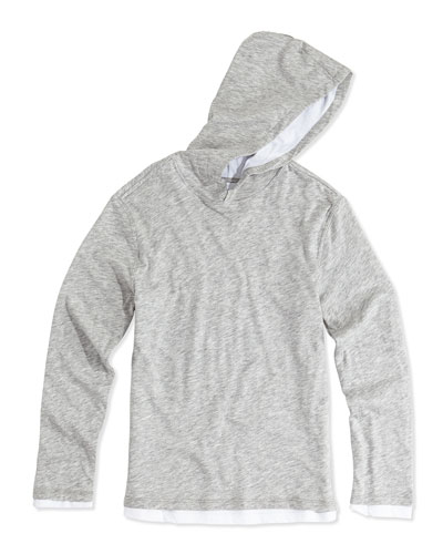 Boys' Double-Layer Hoodie, Gray