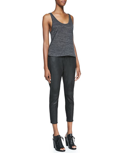 rag & bone/JEAN Prema Jersey Tee & Dash Suede Trousers
