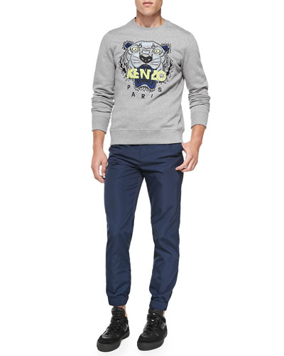 Kenzo Tiger Logo Sweatshirt & Tech-Fabric Jogging Pants