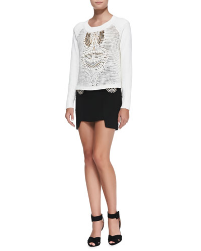 sass & bide Freeze Frame Crocheted Sweater & The New End Embellished Skirt