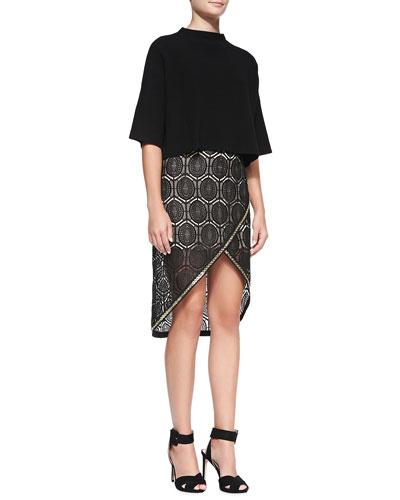sass & bide Airfreight Crop Knit Sweater & Six Months Later Embroidered Skirt
