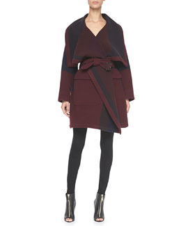 Burberry Brit Blanket Coat & 4-Way Stretch Travel Jeans