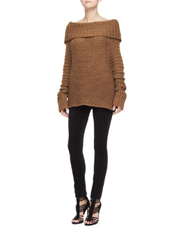Donna Karan Oversized Cowl-Neck Sweater & Structured Jersey Legging Pants
